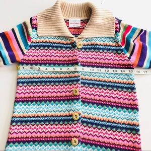 Hanna Andersson Jackets & Coats - Hanna Anderson Multi Color Ruffle Girls Cardigan